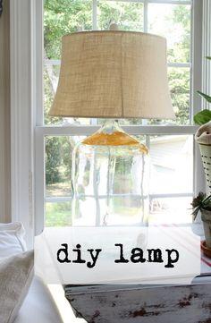 DIY Carboy (Glass Jug) Lamp.