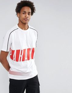ASOS Relaxed T-Shirt With Shoulder Panel Detail & Paradox Front & Back