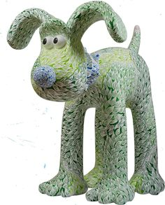 "Gromit Unleashed - Artist Tom Berry imagined ""aMazing Gromit"" getting lost in Leigh Woods in Bristol, & turning into a 'TreeGromit.' The tree motif that covers him is also a maze – can you navigate from the starting point on his right ear through the forest to the safety of the cottage on his tail?"