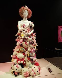 Lady Gaga's Kitty dress to celebrate an anniversary of Hello Kitty. @AppLetstag @ladygaga #emp #seattle #metal #music #spaceneedle #museum #empmuseum #pnw #washington #hellokittyemp #hellokitty #movies #film #cinema #movie #movieprop #filmprop #vintage #architecture #city #design #building #travel #tourism #beautiful #instagood #traveling #fun #sightseeing #ladygaga by senecias