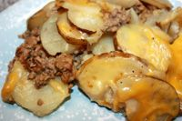Hamburger Potato Crock Pot Dinner.
