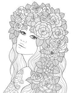 """""""pour voir la vie en rose"""" coloring book agenda 2016 on Behance"""