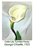 "This would be really pretty (""Calla Lilly Turned Away"". Georgia O'Keeffe, 1923)"