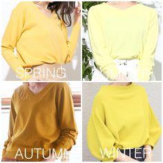 画像に含まれている可能性があるもの:1人以上、立ってる(複数の人)、テキスト Soft Autumn, Warm Spring, Soft Summer, Light Spring Palette, Deep Autumn Color Palette, Winter Colors, Spring Colors, Mustard Yellow Outfit, Seasonal Color Analysis