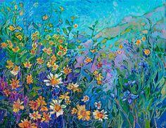 California Blooms - Erin Hanson Prints - Buy Contemporary Impressionism Fine Art Prints Artist Direct from The Erin Hanson Gallery Erin Hanson, American Impressionism, Impressionism Art, Large Painting, Funny Art, Contemporary Paintings, Painting Inspiration, Champs, Amazing Art