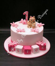 Little Girls Cakevery Cute Cakes Pinterest Girl Cakes - 1st girl birthday cake