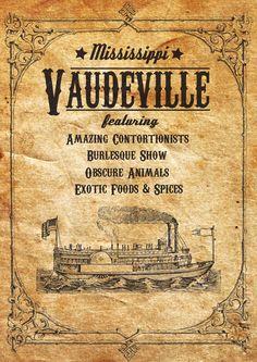Vaudeville Poster on Behance