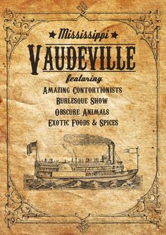 Vaudeville Poster on Behance