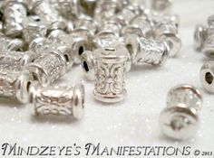 150* Antique Silver Column Spacer Beads 7x5mm $5