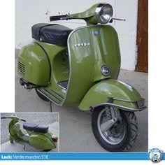 vespa farben originallack verde muschio 510 Bild 3