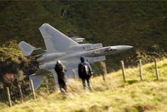 USAF F15 doing a low level pass in Wales