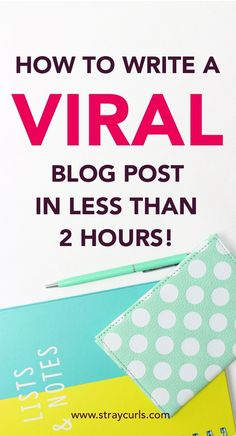 A step-by-step guide on writing a viral blog post from scratch. Learn how to research viral blog topics and choose keywords before writing your post! Blog Topics, Blog Writing, Writing Advice, Creating A Blog, Make Money Blogging, Blogging Ideas, Blogging For Beginners, Step Guide, Affiliate Marketing