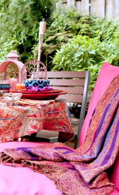 The Hundred-Foot Journey French & Indian Inspired Outdoor Party décor