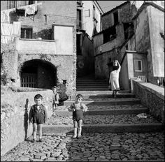 calabria 1964 by Bruno Barbey Documentary Photographers, French Photographers, White Photography, Street Photography, Fotojournalismus, Italian People, Vintage Italy, Foto Vintage, Vintage Black