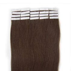 """Beauty7 16-28 Inch Tape in Premium Real Human Hair Extensions 20 Pieces 30g-70g Straight #4 Chocolate Brown (18"""" 40g). Imported. 40g/pack, 20 pieces, super hold tape in hair extensions. Made from real human hair, can be permed, straightened & washed. As the extensions have been previously chemically processed, it's not recommended to color the hair again. Adds instant length and volume, silky, soft, and tangle free. As the length of real human hair differs, the thickness of the extension..."""