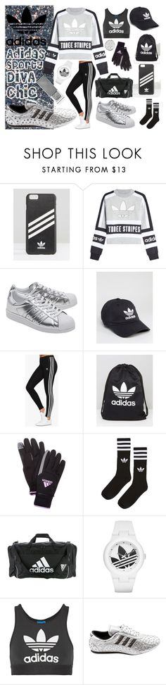 Sporty Adidas Diva Chic Outfit by iconexpressions on Polyvore featuring adidas Originals, adidas and Sally Hansen