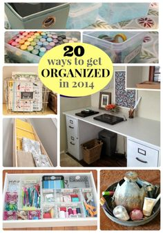 Great Ideas — 20 Ways to Get Organized in 2014!! - Tatertots and Jello