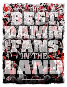 OHIO STATE BUCKEYES HAVE THE LARGEST FAN FOLLOWING AND WE ARE CONSIDERED THE BEST DAMN FANS IN THE LAND!