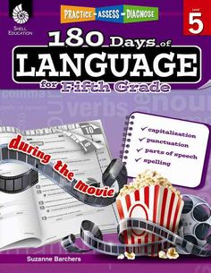 180 Days of Language for Fifth Grade: Capitalization, Punctuation, Parts of Speech, Spelling