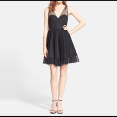 Milly Dotted Tulle Dress Super cute and fun dress! It's never been worn and has the original tag still on it. You can dress it up or down and really can be worn to any type of occasion! Milly Dresses Mini