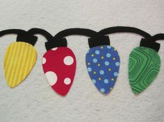 scrapbook paper lights - cute for boarder on a scrap page