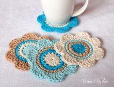 crochet coasters | ... : xox http://charmedbyewe.com/free-crochet-flower-coasters-pattern