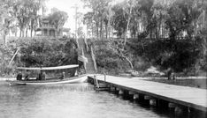 Florida Memory - Steam launch on Lake Weir at a steamboat landing for the Lake Side Hotel