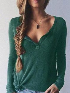 Let It V Knitted Top