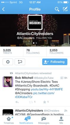 The Atlantic City Insiders re-tweeting my video review! https://www.youtube.com/watch?v=Hiy-44Y8MFE