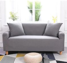 2 Seater Included: 1 x Two-seat Sofa Slipcover. 3 Seater Included: 1 x Three-seat Sofa Slipcover. 2 Seater Length Range for Sofa: Approx. 3 Seater Length Range for Sofa: Approx. With features of stretch and elastic, it fits most sofa. Clean Couch, Sofa Protector, Simple Sofa, Old Sofa, Types Of Sofas, Dust Mites, Fabric Sofa, New Furniture, Furniture Covers