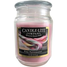 Candle-Lite Limited Edition Long Lasting Pink Peppermint Scented Terrace Jar Candle 18 oz(Pack of 3) #jarcandles