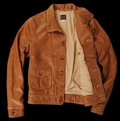 The Daily Endorsement: Levi's Vintage Clothing 1930s Menlo Leather Jacket #GQ #mensfashion