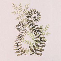 Flower Stencils | Curly Ferns Floral Stencil | Royal Design Studio