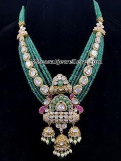 Designer & Temple collection with Hallmark. Diamond, Uncut & Jadau Polki Collection @ A.T Jewellers, Raipur. Royal Jewelry, India Jewelry, Beaded Jewelry, Silver Jewelry, Stylish Jewelry, Fashion Jewelry, Indian Wedding Jewelry, Bridal Jewellery, Gold Jewellery