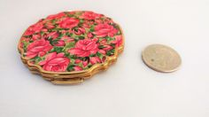 Vintage Straton Compact / Cosmetic Compact / Rose Cosmetric Compact / Rose Items / Straton Items / Collectible Compact / Powder Compact by TamJewelryandUniques on Etsy