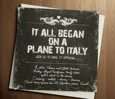 ....or on a plane from Italy.