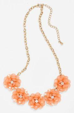 peach necklace -R