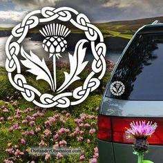 Show your love for Scotland with a Scottish Thistle Decal!* Besides a car window, your Scottish Thistle decal will adhere to any smooth surface such as a laptop, a mirror or your bedroom window.
