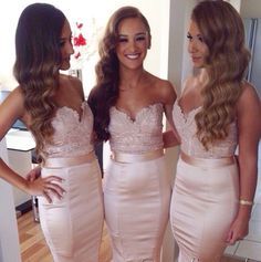 Mermaid Bridesmaid Dress Champagne Bridesmaid Dress Beautiful Bridesmaid Dress Custom Made Bridesmaid Dress Bridesmaid Dress Sexy Bridesmaid Dresses 2018 Blush Pink Bridesmaid Dresses, Wedding Bridesmaid Dresses, Lavender Bridesmaid, Maid Of Honour Dresses, Maid Of Honor, Bridal Gowns, Prom Gowns, Wedding Gowns, Wedding Rings