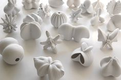 Jonathan Keep - Seeds, ceramic 3D printed, unglazed porcelain.