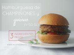Hamburguesa de Champiñones y Quinoa | Recetas and Co. (www.recetasandco.com)