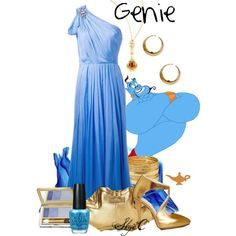 """Genie - Prom - Disney's Aladdin"" by rubytyra on Polyvore"