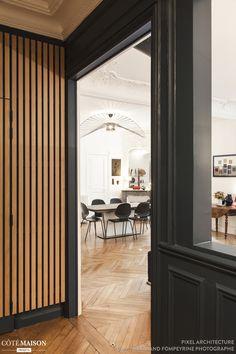 Rénovation d'un 4 pièces de 130 m2 à Paris, PIXEL Architecture - Côté Maison Deco, Decor, Oversized Mirror, Furniture, House, Home, Interior, Home Decor