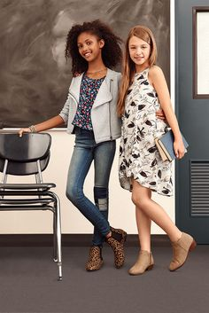 Make 2015 the best year yet with seriously cool back to school styles. Cute booties, fun printed tops and dresses, and Girls Distressed Jeggings pull it all together for first-day looks to remember. Get your back to school outfits at Old Navy.
