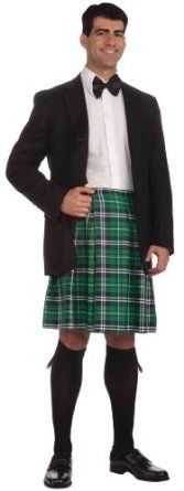 Forum St. Patrick's Day Costume, Green Plaid, One Size,$22.00