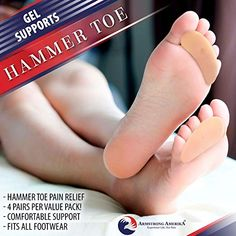 Hammer Toe Straightener Corrector Pads - Gel Toe Separators to Correct Hammer Toes, Ideal Turf Toe Brace & Claw Toe Straightener to Support & Correct Toes for Hammertoe Overlapping Pain Relief Turf Toe, Gel Toe Separators, Hammer Toe, Heel Pain, Pain Relief, Pairs, Fit, Women, Shape
