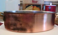 Super easy DIY copper and brass cleaner. 6 TBS salt, 6 TBS flour, and several TBS white vinegar. Mix flour and salt then add TBS's vinegar until you have a paste. Rub on with a soft cloth then rinse and dry. Ta-Da! Clean  copper and brass without harsh chemicals!