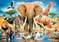 African Oasis via MuralsYourWay.com