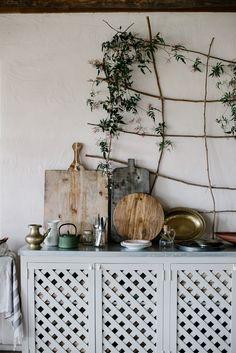// local milk // sydney, australia // slow living workshop at the glenmore house Wall Climbing Plants, Kitchen Design, Kitchen Decor, Interior Decorating, Interior Design, Slow Living, Plant Decor, Interior Inspiration, Interior And Exterior