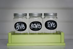 "made these for my kids. I love 'em and my kids love 'em.  Great way to keep their money organized.  I did ""Save, Spend, Tithe"""